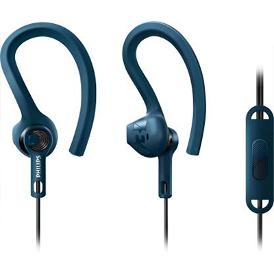 Philips SHQ1405BL Wired Headset with Mic (Blue, In the Ear)