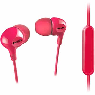 Philips SHE3555 Wired Headset with Mic Red