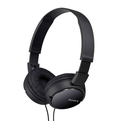 Sony MDR-ZX110 Wired Headset with Mic (Black) (Open Box)