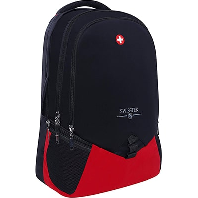 Swisstek BP-020 Laptop Back Pack Black Red-5