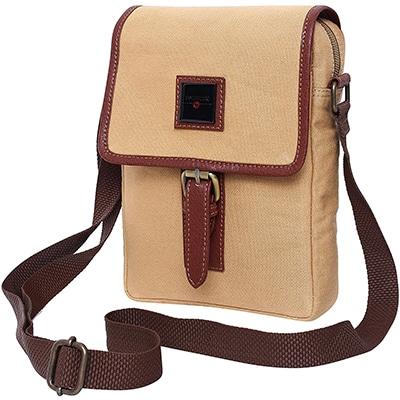 Swisstek Beige Cross body Canvass Sling Bag (SB013)-3