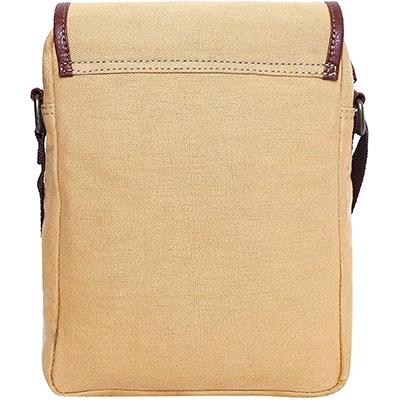 Swisstek Beige Cross body Canvass Sling Bag (SB013)-4