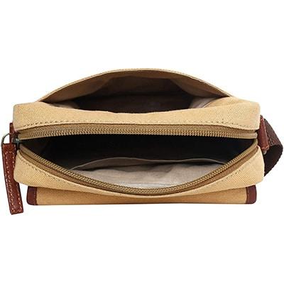 Swisstek Beige Cross body Canvass Sling Bag (SB013)-5