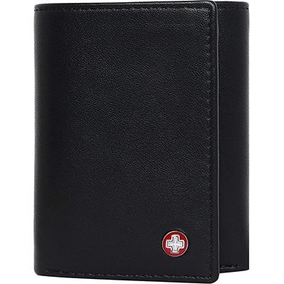 Swisstek Leather Men's Wallet (Black)
