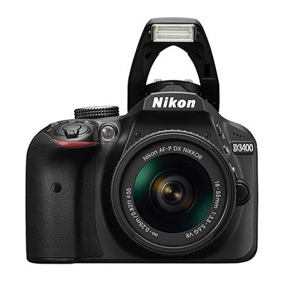 Nikon D3400 DSLR Camera with Single Lens NIKKOR 18-55 mm 16 GB SD Card Camera Bag (Open Box)