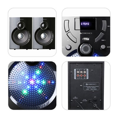 Zebronics ZEB-UDAAN 2 BTRUF 40 W Bluetooth Home Theatre (Black, 2.1 Channel)