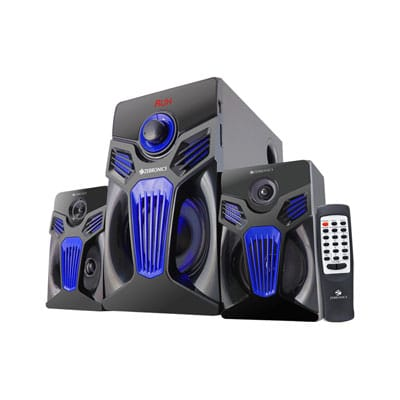 Zebronics ZEB-FANTASY 2.1 Bluetooth Speaker W 27 Bluetooth Home Theater (Black, 2.1 Channel)