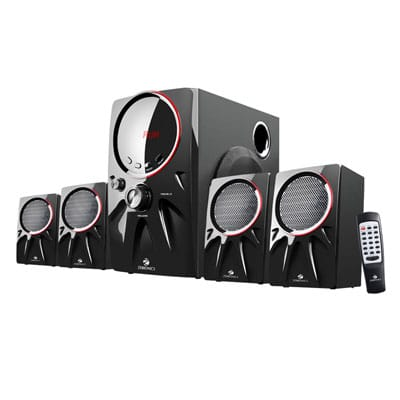 Zebronics Punk 4.1 Bluetooth Speaker 60W Bluetooth Home Theatre (Black, 4.1 Channel)