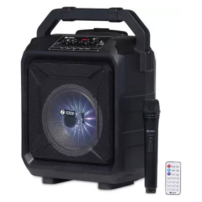 Zoook-Rocker-Thunder-XL-50-W-Bluetooth-Party-Speaker-Black-with-wireless-Mic