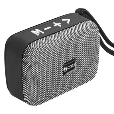 Zoook ZB-Rockstar 5 W Bluetooth Speaker (Grey - Black, Mono Channel)