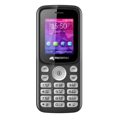 Micromax X378 Mobile Black