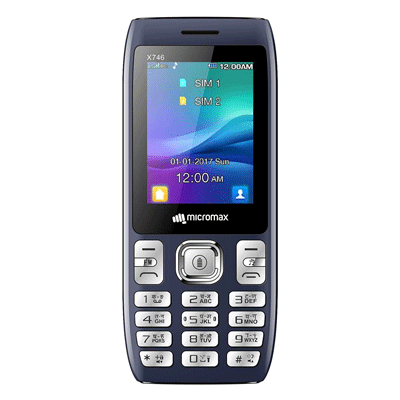 Micromax-X746-Blue-Mobile