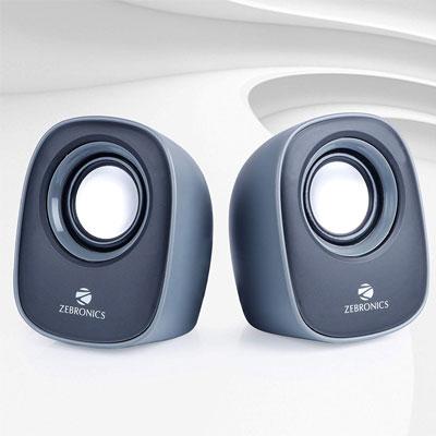 Zebronics ZEB - PEBBLE NEW Laptop/Desktop Speaker (Grey, 2.0 Channel)