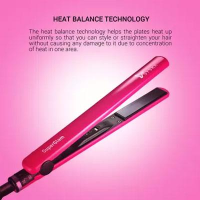 Syska Super Glam HS6810 Hair Straightener (Pink)