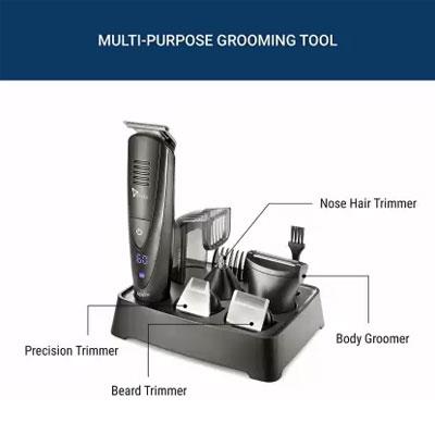 Syska HT4000k Runtime - 60 Min Grooming Kit for Men (Black)