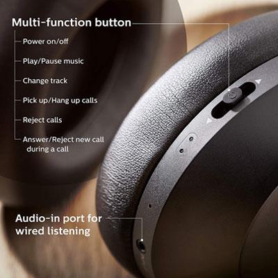 Philips Performance TAPH802BK Hi-Res True Wireless Bluetooth Headset