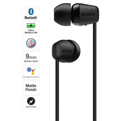 Sony WI-C200 Wireless Bluetooth In-Ear Headphones with Mic