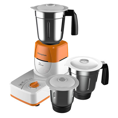 Crompton Diva ACGM-DS51 500-Watts Juicer Mixer Grinder (Orange, 3 Jars)