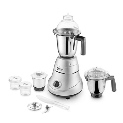 Orient Electric MIRACLE MIR 750 W Mixer Grinder (Grey, 3 Jars)