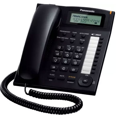 Panasonic KX-TS880MXBD Corded Landline Phone (Black)