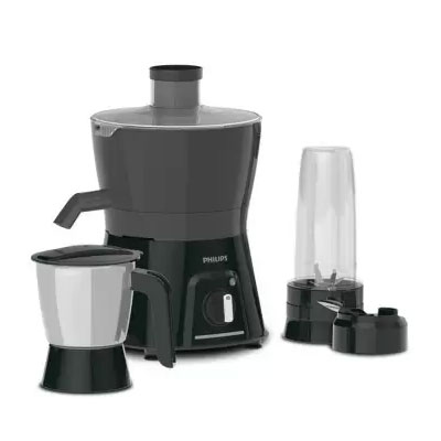 Philips AVENGER HL7579 600W Turbo Juicer Mixer Grinder (Black, 2 Jars)