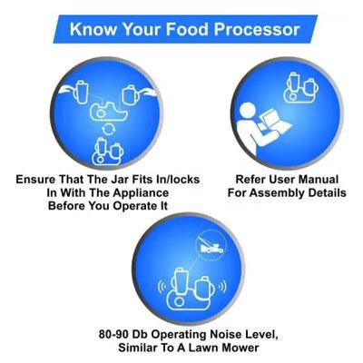 Philips Food Processor HL1661 700Watts with Chutney Jar