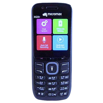 Micromax X424+ Black Dual Sim Mobile