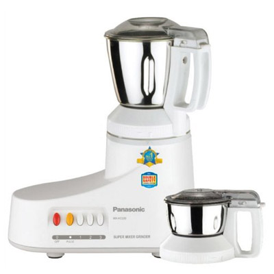Panasonic MX-AC220H 550 W Mixer Grinder (Grey, 2 Jars)