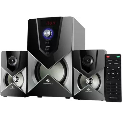 Zebronics SW2491 RUCF Home Theatre (Black, 2.1 Channel)