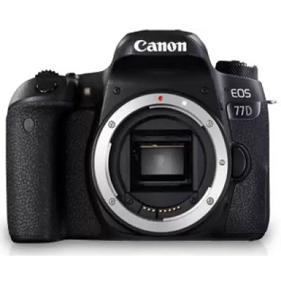 Canon EOS 77D DSLR Camera (Body Only) (16 GB SD Card + Camera Bag) (Black)