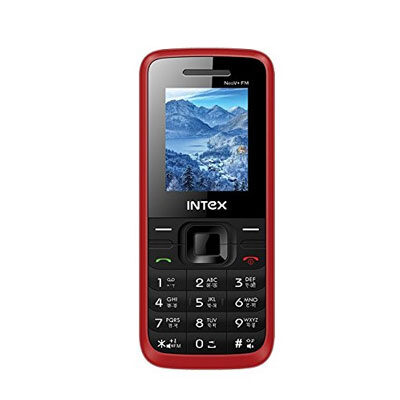 Intex neo V Plus Fm Dual Sim Mobile Phone (Black-Red)