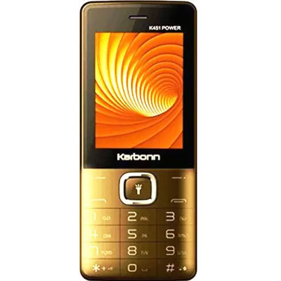 Karbonn K451 Power (Champagne and Black) Dual