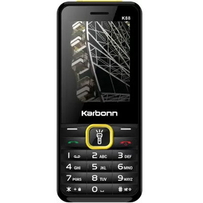 Karbonn K88 Mobile (Black & Yellow)