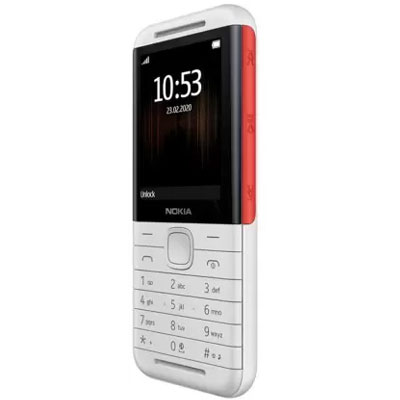 Nokia 5310 (BLACK-RED) (White- Red)