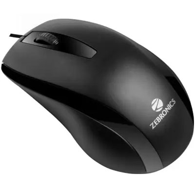Zebronics Zeb-Alex Wired Optical Mouse (USB 2.0, Black)