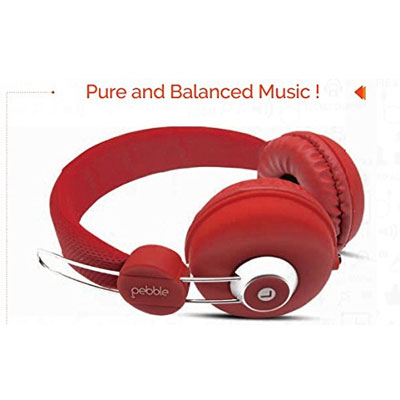 Pebble Curve Headphone RED