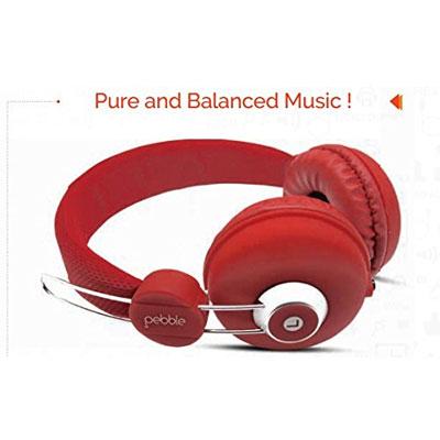 Pebble Curve Headphone RED