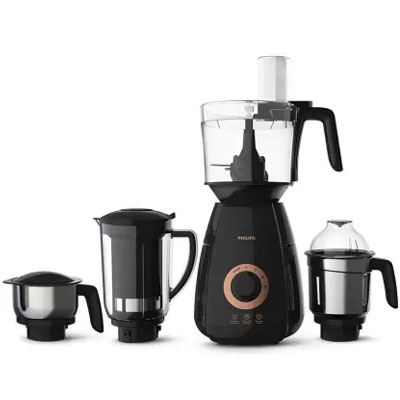 Philips HL7707/00 750-Watt Mixer Grinder with 4 Jars (Black)