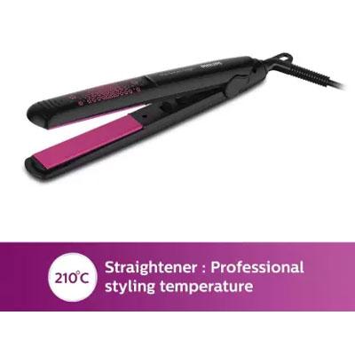 Philips HP 8643-46 Hair Straightener + Hair Dryer (pink)