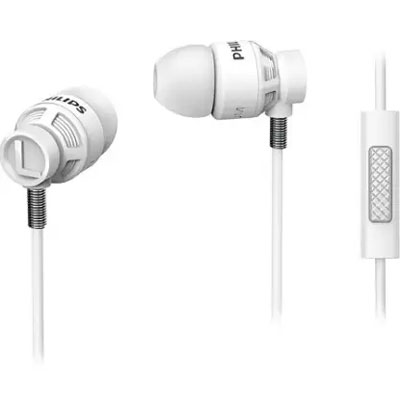 Philips SHE5205WT/00 Headphones with Mic (White)