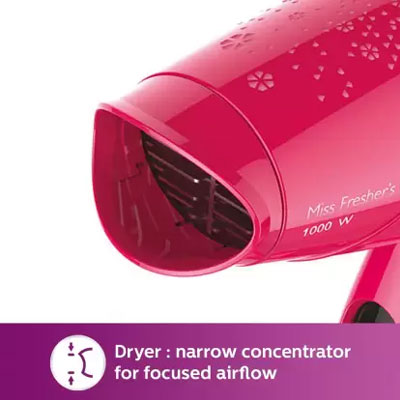 Philips HP 8643-46 Hair Straightener + Hair Dryer (pink)