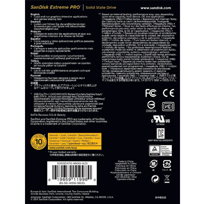 SanDisk Extreme Pro SDSSDXPS-960G-G25 2.5 960GB SATA 6.0Gb/s Internal Solid ...