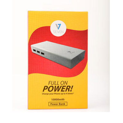 V7 10000MAh Poower bank White