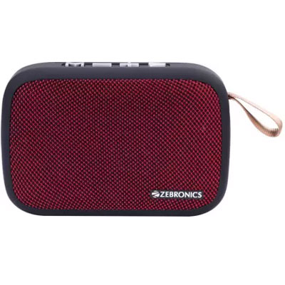 Zebronics Delight Portable Wireless Bluetooth Speaker RED