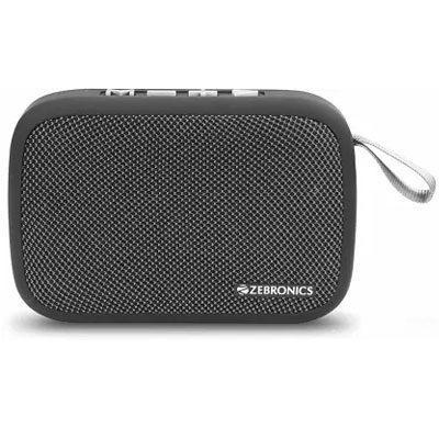 Zebronics Delight Portable Wireless Bluetooth Speaker GREY