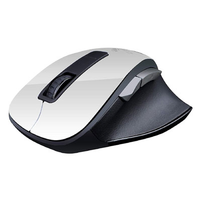 Zebronics ZEB ZURI WHITE Wireless Optical Gaming Mouse with Bluetooth (White)
