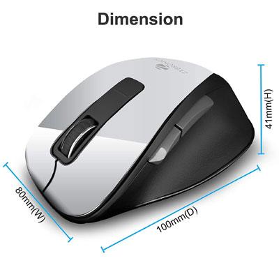 Zebronics ZEB ZURI WHITE Wireless Optical Gaming Mouse with Bluetooth (White)