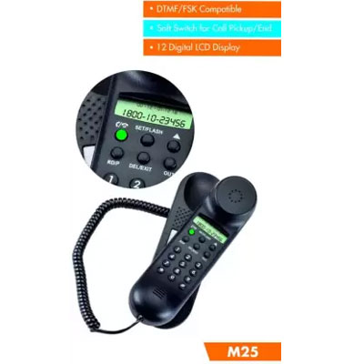 Beetel M25 Corded Landline Phone (Black)