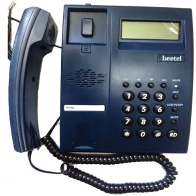 Beetel M51 Corded Landline Phone (Blue)