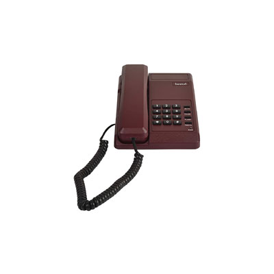 Beetel B11 Corded Landline Phone (Dark Red)
